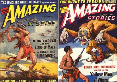 J. Allen St. John ERB Barsoom cover art for Amazing