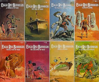 Barsoom covers by Gino d'Achille