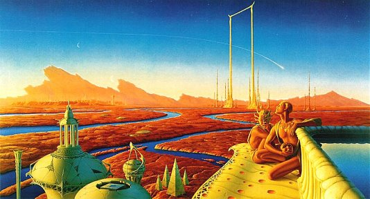 Whelan art for Bradbury's Martian Chronicles